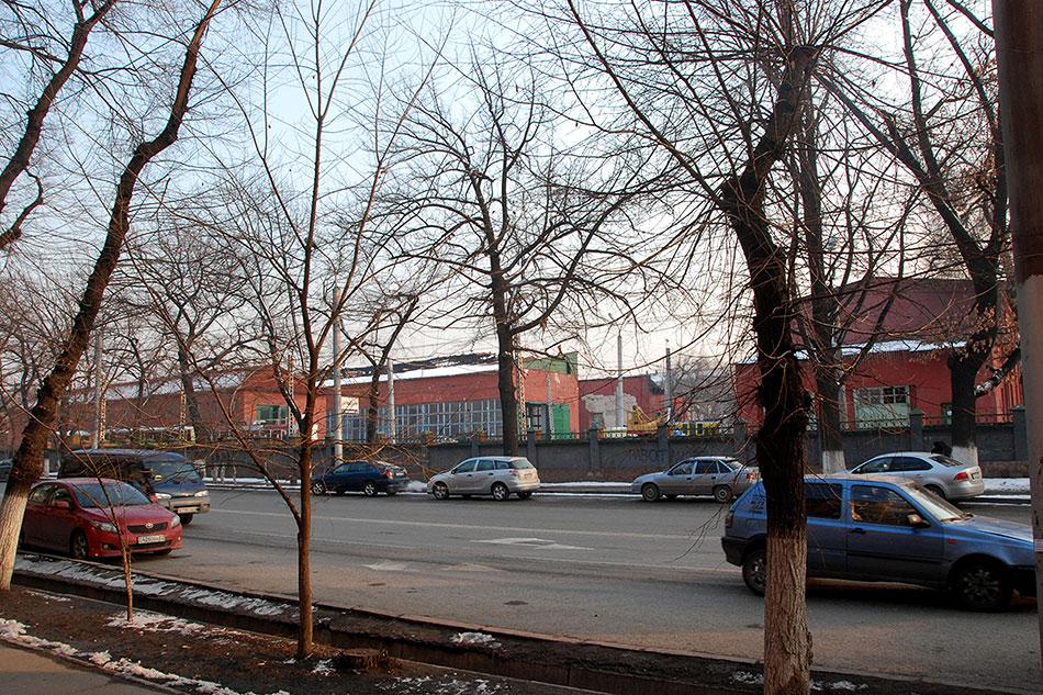 2015год. Вид натрамвайное депог. Алматы сулицы Гоголя