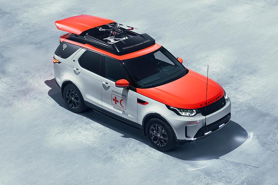 Land Rover Discovery Project Hero. Это один изнемногих концептов, которому предстоит настоящая жизнь. Автомобиль будет работать втренировочных центрах австрийского Красного Креста. Изфишек унего масса спецоборудования вбагажнике иплощадка для посадки дрона накрыше.