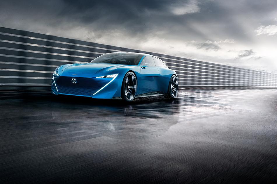 Peugeot Instinct. Шикарный беспилотный 300-сильный шутинг-брейк с300-сильной силовой установкойи... бетонным полом. Зачем? Спросите уфранцузов.