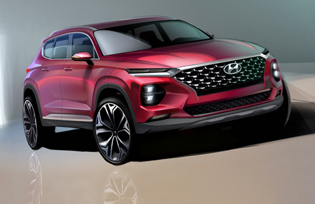 Hyundai рассекретила дизайн нового Santa Fe