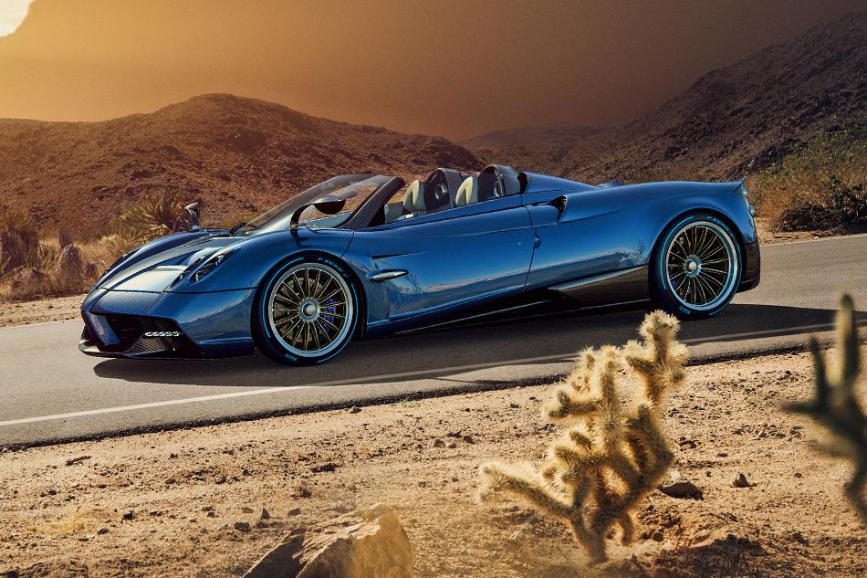Pagani Huayra Roadster. Если выдумали, что «Уайру» невозможно сделать ещё красивее, тоуГорацио Пагани для вас сюрприз. Родстер с764-сильным мотором получился поистине восхитительным.