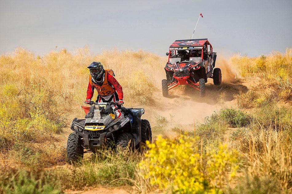 Маршрут гонки был проложен потерритории Калмыкии иАстраханской области
